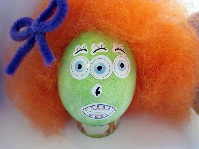 vejce s vlasy