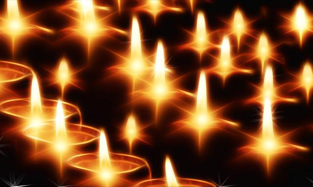 plameny svíček