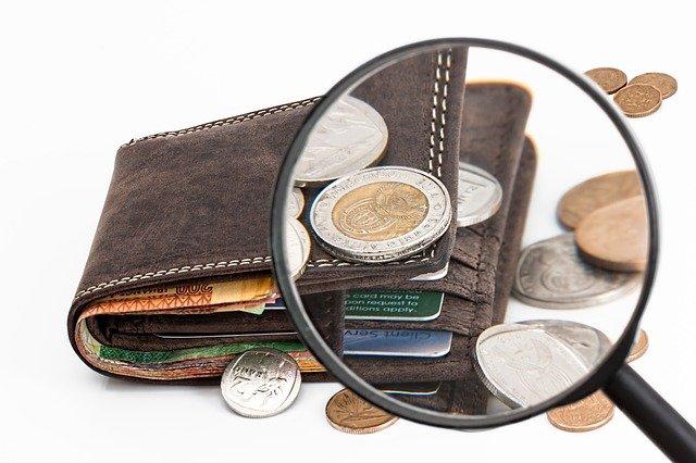 rozsypaná peněženka