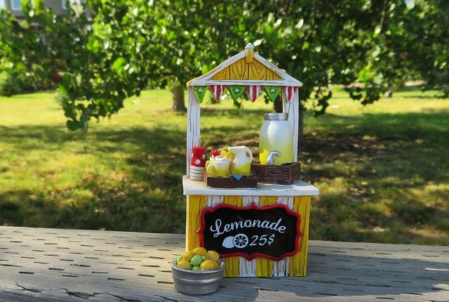 limonáda stánek