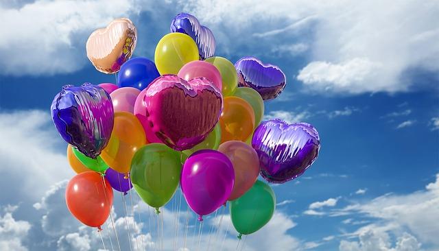balonky na oslavy
