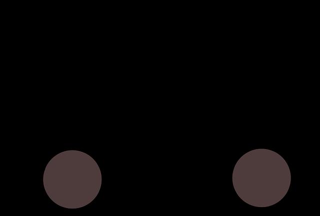 nakreslená dodávka černá