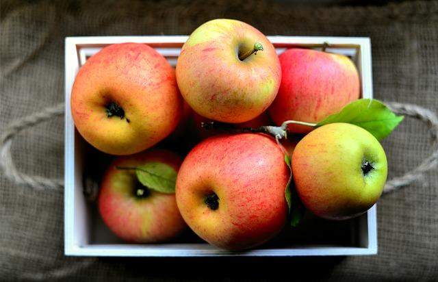 mísa s jablky