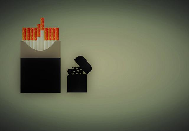 zapalovač a cigarety